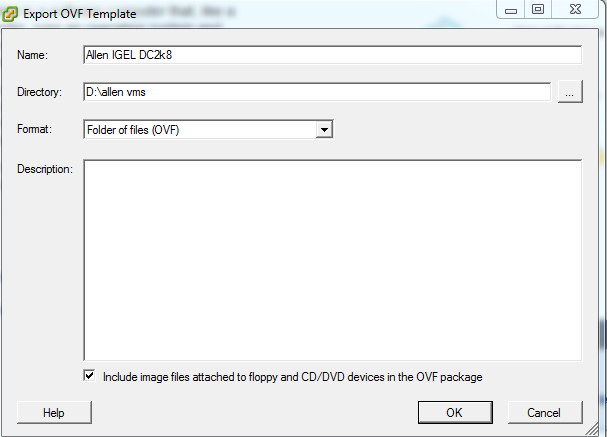 export vm as an ovf template guide