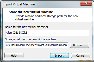 import OVF into workstation 8
