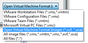open and OVF in workstation 8
