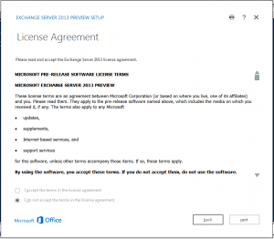 exchange 2013 license screen