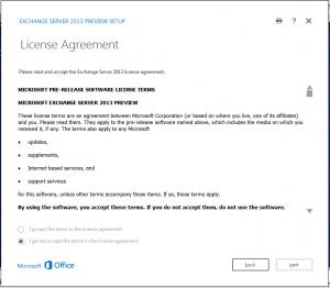 exchange 2013 license screen