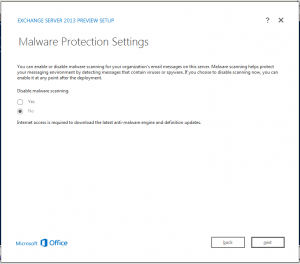 exchange 2013 malware
