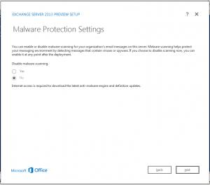 exchange 2013 malware