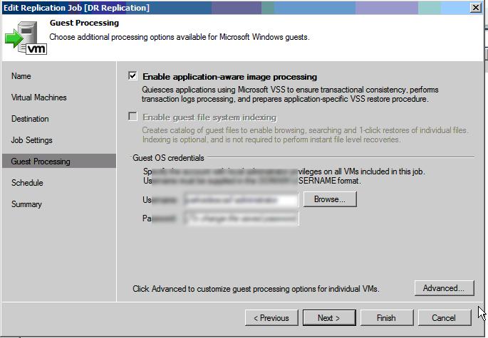 veeam-application-aware-settings