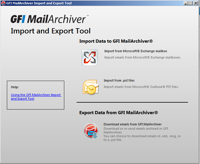 Export PSTs from client machines