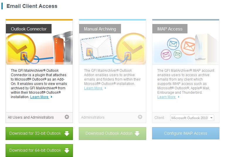 Mail Archive Client Access
