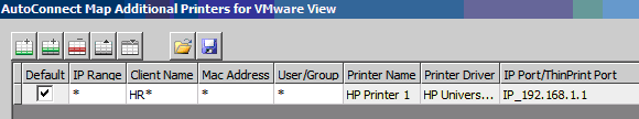 configure thinprint