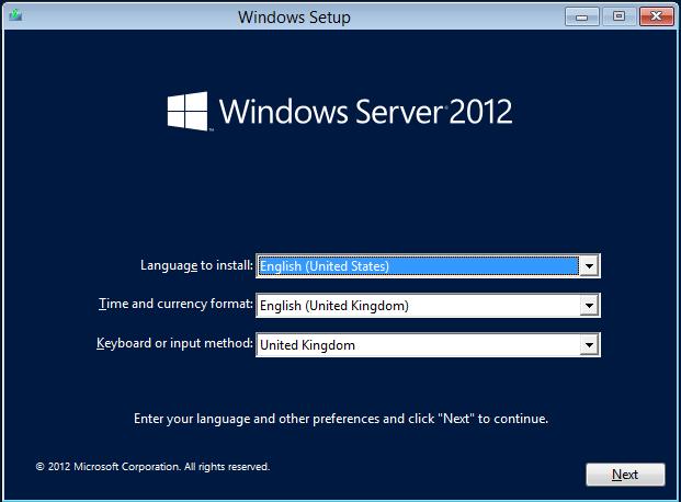 Install server 2010