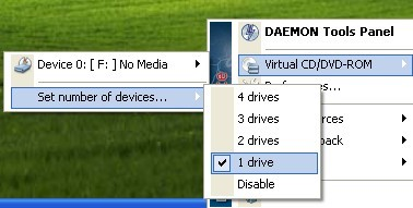 Virtual CD rom stop xbmc launching