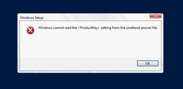 windows server 2012 wont accept product key