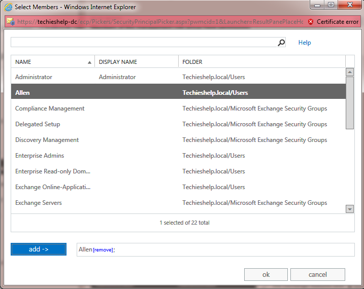 How To Add An Administrator To Exchange 2013 /2016
