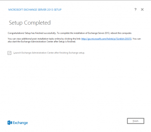exchange 2013 installed
