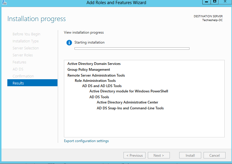 install active directory server 2012
