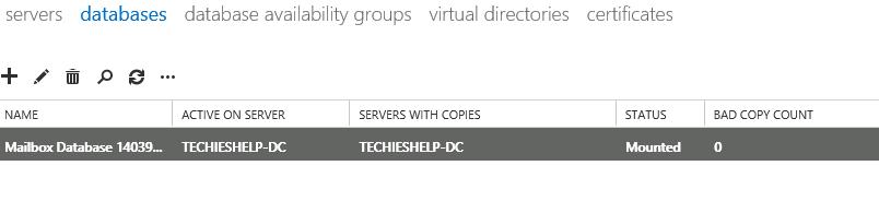 select exchange 2013 database