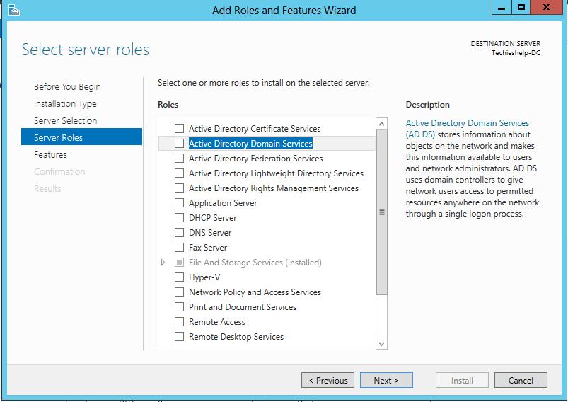 server 2012 domain services