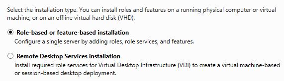 server 2012 role based server
