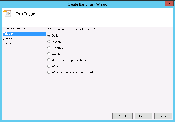 Create Scheduled task server 2012