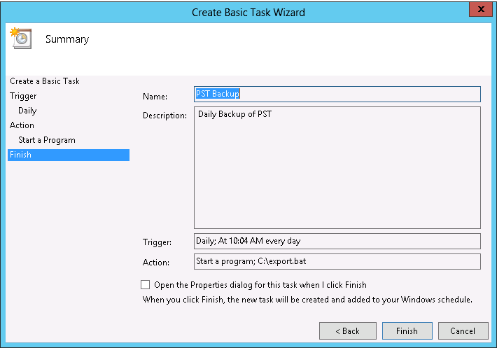 Schedule PSTs To Backup in Exchange 2013