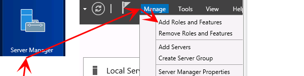 add roles and features server 2012