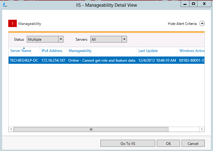 cannot install role server 2012