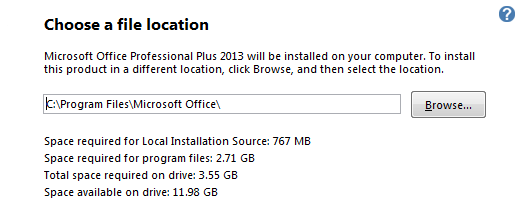 office 2013 file locations