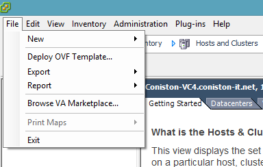 Deploy OVF template  treend deep security