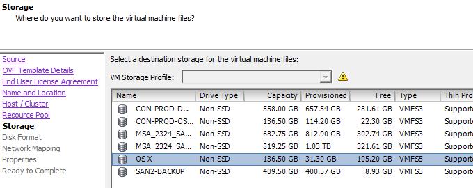 select datastore -6