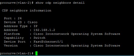 show hp cdp detail