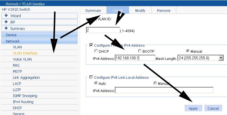 How To Create A VLAN On A HP V1910 | Techieshelp com