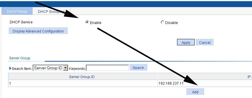 HP V910 create server group