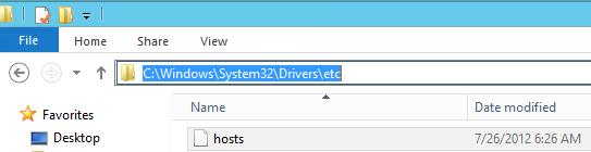 exchange 2013 host file