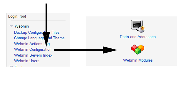 install ftp server in webmin