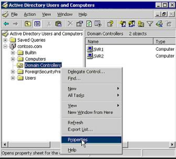 nested ou domain controller