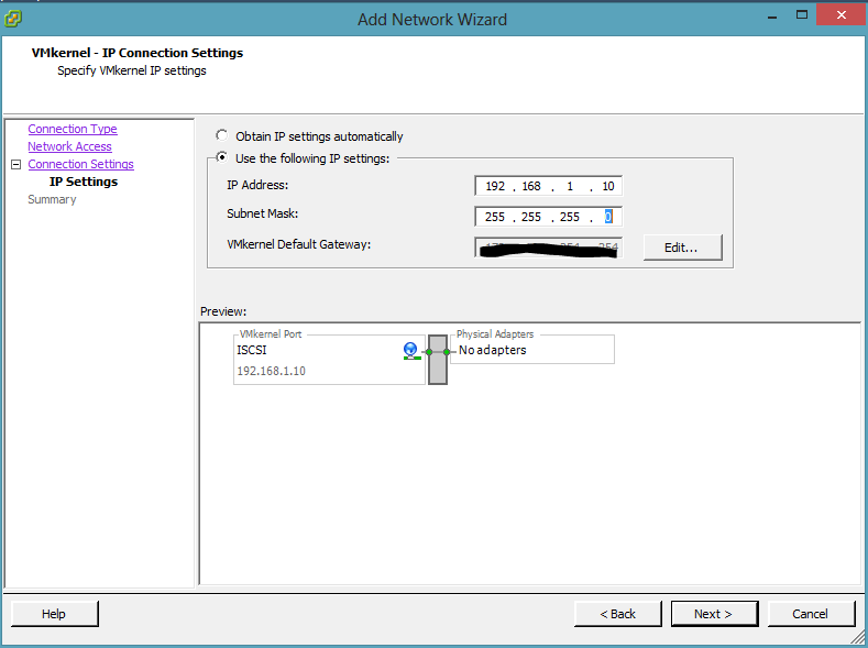 assign ip to dell switch