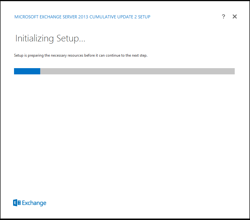 Exchange 2013 cu2 initializing setup