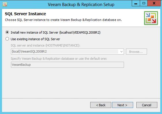 Veeam 7 SQL