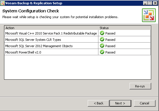 Veeam 7 system check