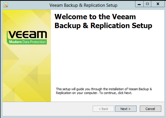 veeam 7 welcome screen