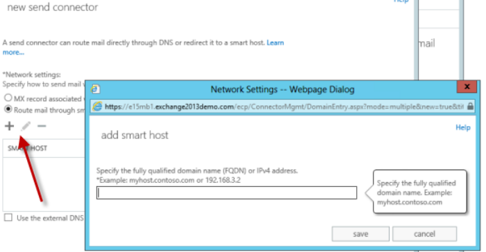 exchange 2013 smart host