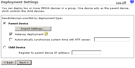 IMSVA parent device