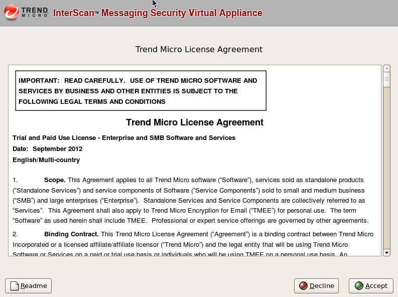 accept trend license agreement