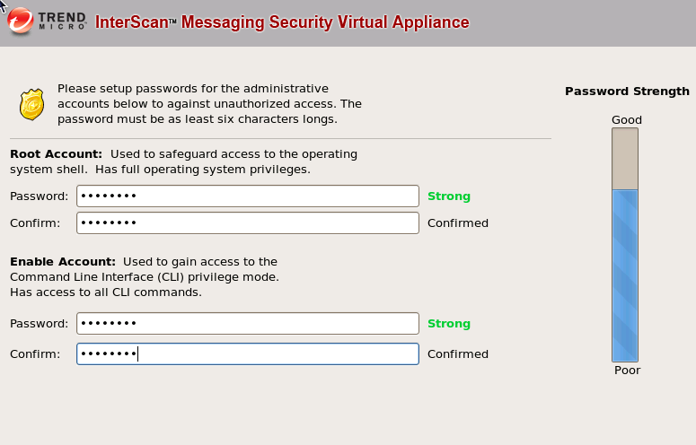trend appliance secure passwords