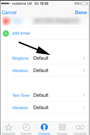 ios7 give contact individual ringtone