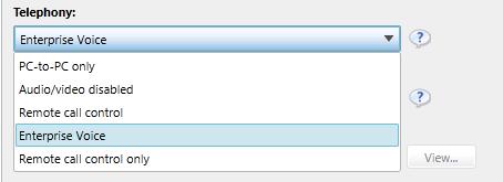 Lync 2013 user telephony settings