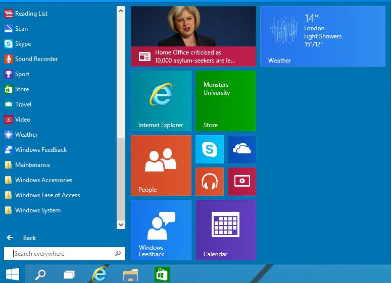 Windows 10 add appliation to start menu guide