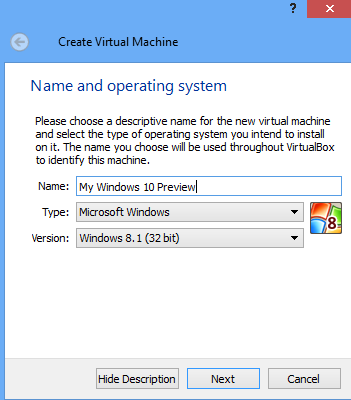 Windows 10 demo machine on windows 8