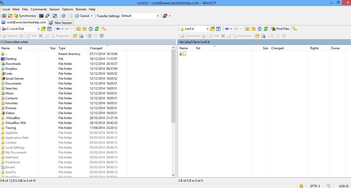 winscp migrate wordpress