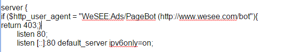 block user agent nginx