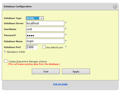 mcafee quarentine manager sql prompts for authentication