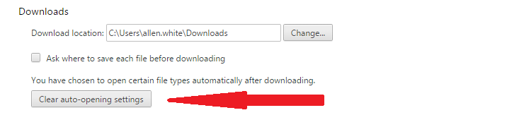 stop google chrome opening downloads automatically